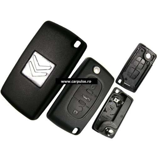 Carcasa cheie cu 3 butoane pentru Citroen