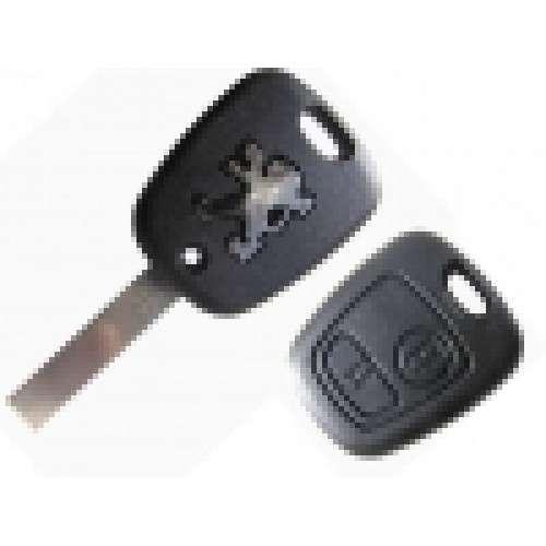 Carcasa cheie pentru Peugeot - 2 butoane, lama dreapta